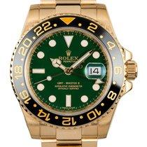Rolex GMT-MASTER II 40mm 18K Yellow Gold Watch Green  Dial