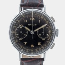 Marvin Vintage Military Chronograph / Valjoux 22 / Serviced /...