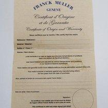 Franck Muller Blanko Zertifikat