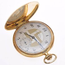 Dubied Chronometre 1930 Deco pocket watch hunting case 18k gold