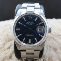 Rolex OYSTER DATE 1500 Original Glossy Blue Dial with Solid...