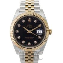 Rolex Datejust 41 Black Steel/18k gold G 41mm - 126333 G