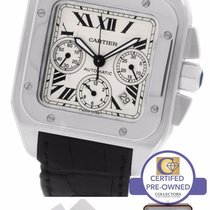 Cartier Santos 100 XL Chronograph 2740 Ivory 41mm Watch W20090X8