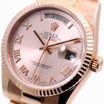 Rolex 18k Rose Gold President Roman Dial - 118235 Model