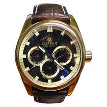 Deep Blue Fleet Admiral Watch Auto Full Calendar 100m Wr Gold...