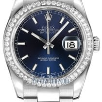 Rolex Datejust 36mm Stainless Steel 116244 Blue Index Oyster