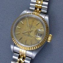 Rolex Oyster Perpetual Datejust 18k/steel ladies sapphire crystal