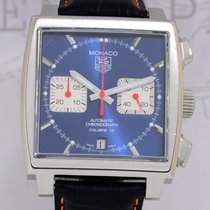 TAG Heuer Monaco Blue Racing Steve McQueen Chronograph Top...