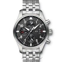 IWC Pilot's Watch Chronograph Black/Steel - IW377704