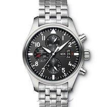 IWC Pilot's Watch Chronograph Black/Steel - IW377704