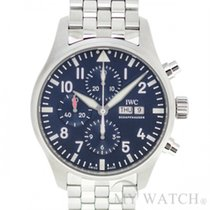 IWC Pilots Stainless Steel Blue Manual Wind IW377717 (NEW)