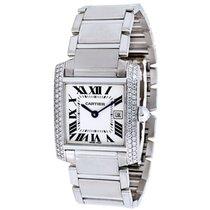 Cartier Tank Francaise WE101853 Women's Watch in 18K White...