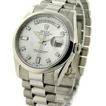 Rolex Unworn 118206 Mens Platinum President with Domed Bezel -...