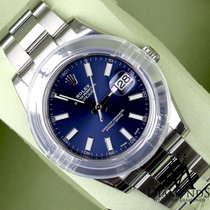 Rolex New 2016 Rolex Datejust Ii 116300 41mm Blue Roman...