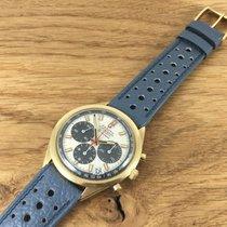 Zenith G581 Rare Grey Panda 18ct Gold El Primero 1969 Vintage 250