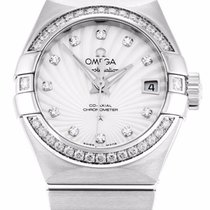 Omega 123.15.27.20.55.001 Constellation Women Diamonds MOP...