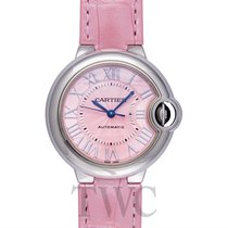 Cartier Ballon Bleu de Cartier Pink Steel/Leather 33mm - WSBB0002