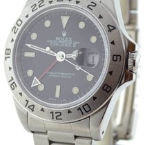 Rolex Mens Explorer II 16570 T Stainless Steel Black Dial