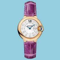 Cartier BALLON BLEU DE CARTIER 28 mm Rotgold Violett Diamanten...