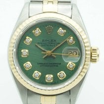 Rolex Datejust 26mm two tone  Green Diamond Dial Jubilee