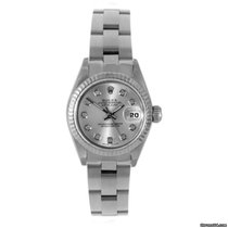 Rolex Ladies Datejust  - Factory Silver Diamond Dial - Oyster...
