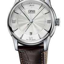 Oris Artelier Date Roman Brown Leather Bracelet
