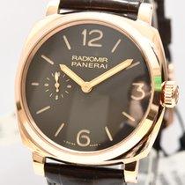 Panerai Radiomir Rose Gold Neu Papiere Kasten Pam.00513