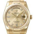 Rolex Day-Date 36 18 kt Gelbgold Ref. 118238 Champagner DIA