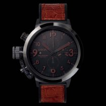 U-Boat FLIGHTDECK BLACK CERAMIC BK/BR 50MM