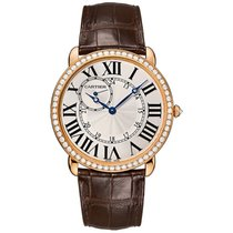 Cartier Ronde Louis Cartier 42mm Rose Gold Watch Diamond Bezel