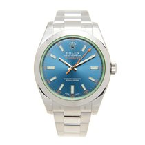 V.I.P. Time Watch Rolex Milgauss Stainless Steel Blue Automati...