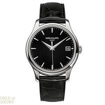 Patek Philippe Calatrava White Gold Black Dial 39mm Men's...