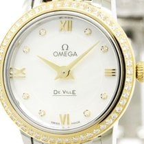 Omega De Ville Diamond Mop 18k Pink Gold Steel Watch 424.25.24...