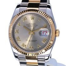 Rolex Oyster Datejust Gold Steel Roman Dial 36 mm (Full Set)