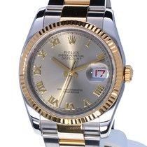 Rolex Oyster Datejust Gold Steel Roman Dial 36 mm (Full Set)