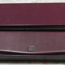 Omega vintage watch box leather burgundy complete outer box  nice