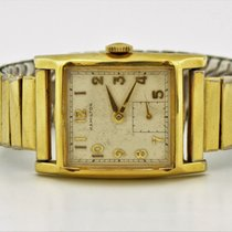 Hamilton Gold Filled Manual Wind Square White Dial Watch