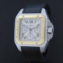 Cartier Santos 100 XL Chrono Gold/Steel