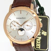 Audemars Piguet Jules 18k Rose Gold Moon Calendar Mens Watch...