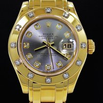 Rolex Masterpiece Ladies 18k Yellow Gold Factory 12 Diamond...