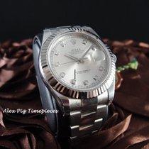 勞力士 (Rolex) 116334G Datejust II Silver Diamond Dial [N E W]