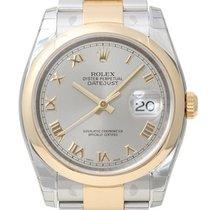 Rolex Datejust 36 Edelstahl/Gelbgold 116203 Grau Römisch