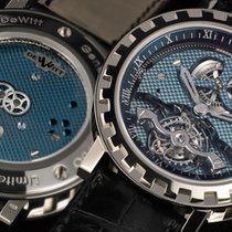 Dewitt Academia Tourbillon Mysterieux in 18K White Gold
