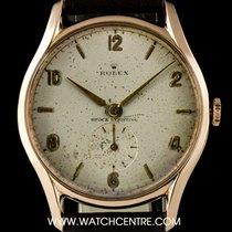 Rolex 18k R/Gold Silver Dial Shock Resisting Vintage Gents 1209-1