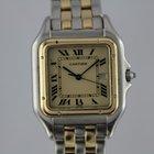 Cartier Panthere Gold / Stahl #K2748 Guter Zustand
