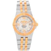 Breitling Galactic 30 Ladies Steel 18k Rose Gold Diamond Watch...