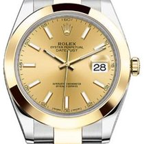 Rolex Datejust 41 126303 Champagne Index Yellow Gold Stainless...