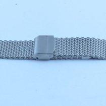 Neutrales Milanaise Stahl Armband Bracelet 22mm Top Zustand Rar