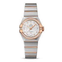 Omega Constellation Co-Axial White Moth-of-Pearl Dial 27 mm...