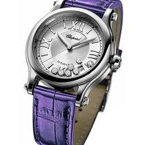 Chopard 278559-3001 Happy Sport Medium - Steel on Purple...
